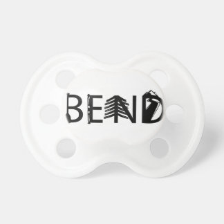 Bend Oregon Outdoor Activity Letters Logo Pacifier