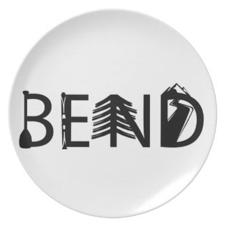 Bend Oregon Outdoor Activity Letters Logo Plate