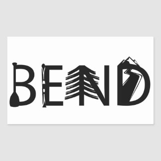 Bend Oregon Outdoor Activity Letters Logo Sticker