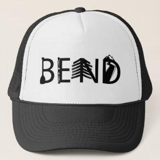 Bend Oregon Outdoor Activity Letters Logo Trucker Hat