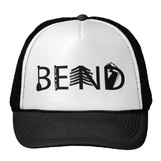 Bend Oregon Outdoor Activity Letters Logo Trucker Hat