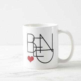 Bend Oregon Word Heart Logo Coffee Mug