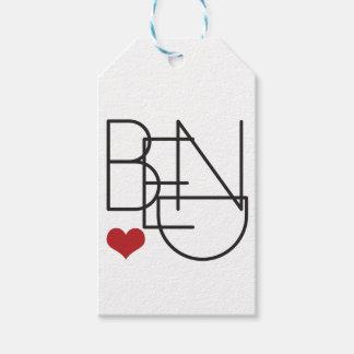 Bend Oregon Word Heart Logo Gift Tags