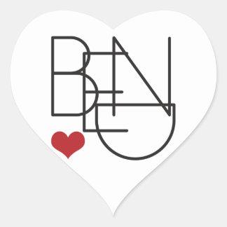 Bend Oregon Word Heart Logo Heart Sticker
