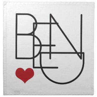 Bend Oregon Word Heart Logo Napkin
