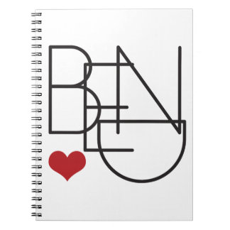 Bend Oregon Word Heart Logo Notebook