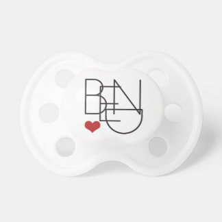 Bend Oregon Word Heart Logo Pacifier