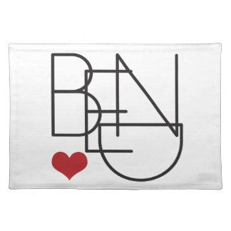 Bend Oregon Word Heart Logo Placemat