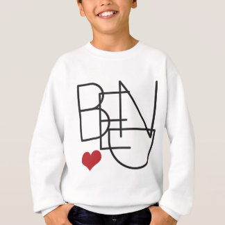 Bend Oregon Word Heart Logo Sweatshirt