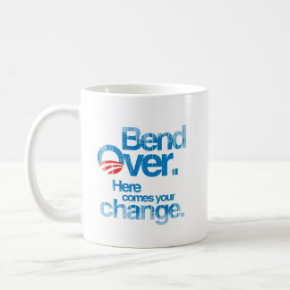 Bend Over. Here Comes your change Faded.png Basic White Mug