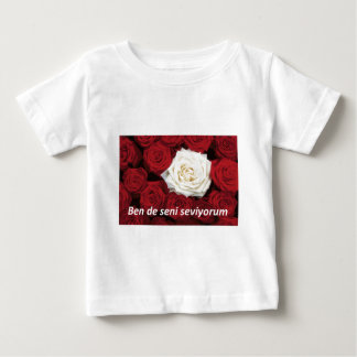 Bende seni seviyorum Turkish I love you also Baby T-Shirt