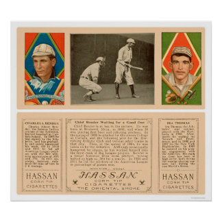 Bender At Bat Athletics Baseball 1912 Poster
