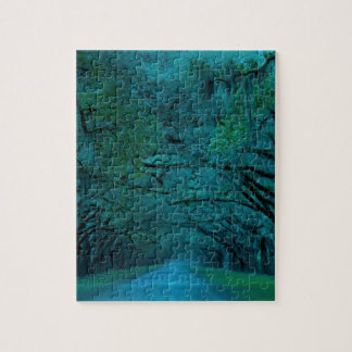 BENDING TREES - ULTRA BLUE JIGSAW PUZZLE