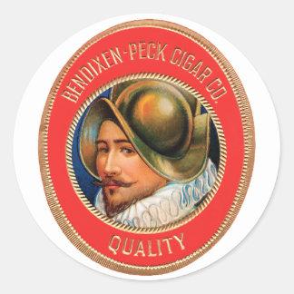 Bendixen-PeckCigar Classic Round Sticker
