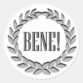 Bene! Good job! Classic Round Sticker