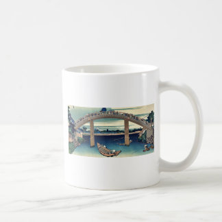 Beneath Mannen Bridge by Katsushika,Hokusai Coffee Mug