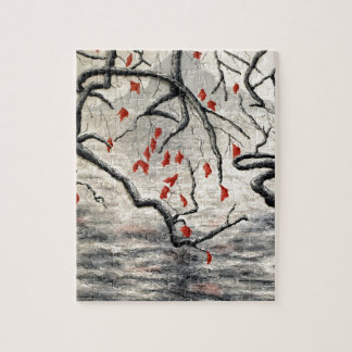 Beneath the Overhang by Fine Artist Alison Galvan Jigsaw Puzzle