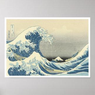 Beneath the Wave of Kanagawa Hokusai 1830-32 Print