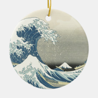 Beneath the Wave off Kamagawa Ceramic Ornament