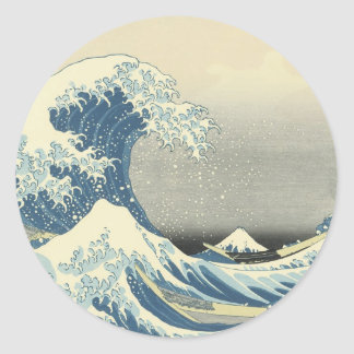 Beneath the Wave off Kamagawa Classic Round Sticker