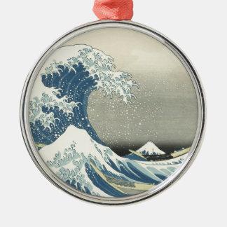 Beneath the Wave off Kamagawa Metal Ornament
