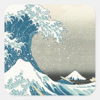 Beneath the Wave off Kamagawa Square Sticker