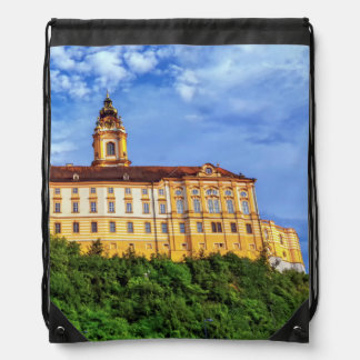 Benedictine abbey, Melk, Austria Drawstring Bag