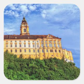 Benedictine abbey, Melk, Austria Square Sticker