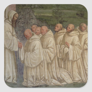 Benedictine Monks, from the Life of St. Benedict ( Square Sticker