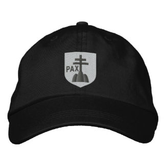 benedictines coat of arms embroidered hat