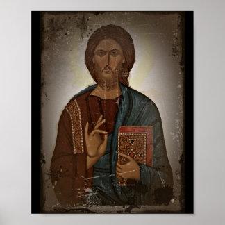 Bénédiction de Jésus Poster