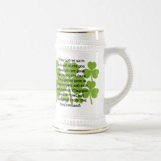 Bénédiction irlandaise de mariage - customisée chope à bière