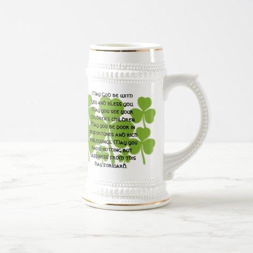 Bénédiction irlandaise de mariage - customisée mugs