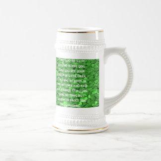 Bénédiction irlandaise de mariage - customisée - chope à bière