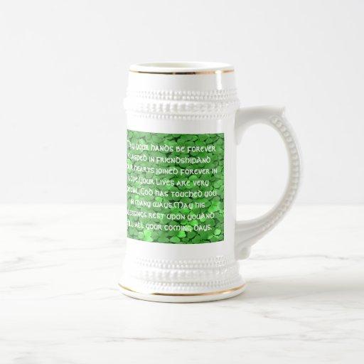 Bénédiction irlandaise de mariage - tasse à café