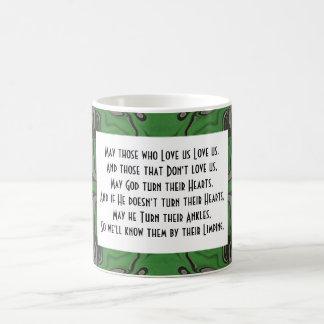 bénédiction irlandaise drôle mug à café