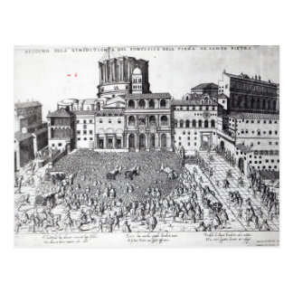 Benediction of The Pope in St.Peter's Square Postcard