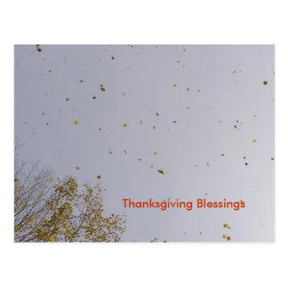 Bénédictions d'or de thanksgiving carte postale