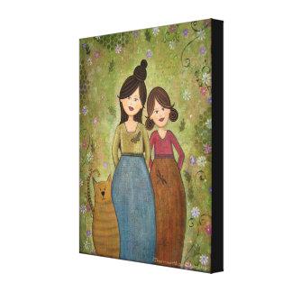 Bénédictions douces - la mère 16x20 et la fille toiles tendues sur châssis