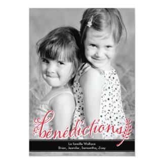 """Bénédictions Holiday Photo Cards 5"""" X 7"""" Invitation Card"""