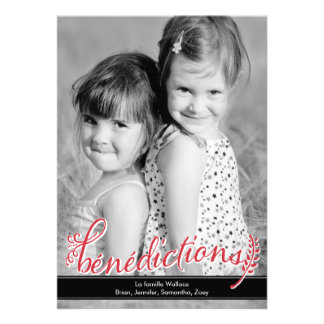 Bénédictions Holiday Photo Cards
