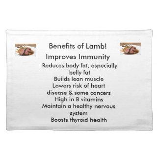 Benefits of Lamb-Placemat Place Mat