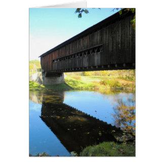 Benetka Road Covered Bridge Ashtabula County Ohio Card