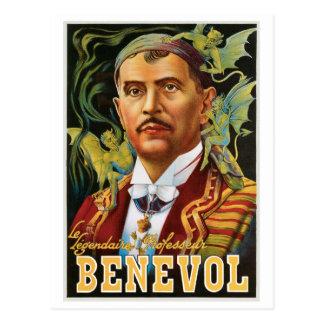 Benevol ~ Italian Magician Vintage Magic Ad Postcard