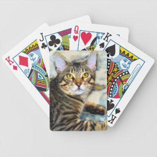 Bengal Cat Art Bicycle Playing Cards