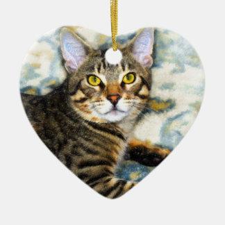 Bengal Cat Art Ceramic Ornament