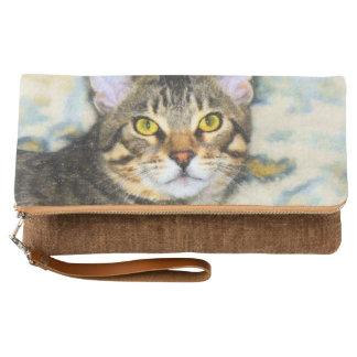 Bengal Cat Art Clutch