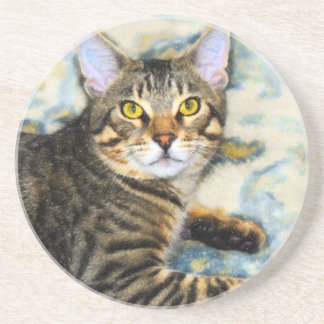 Bengal Cat Art Coaster