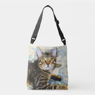 Bengal Cat Art Crossbody Bag