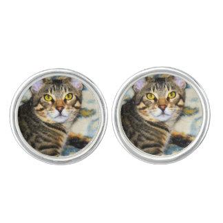 Bengal Cat Art Cufflinks